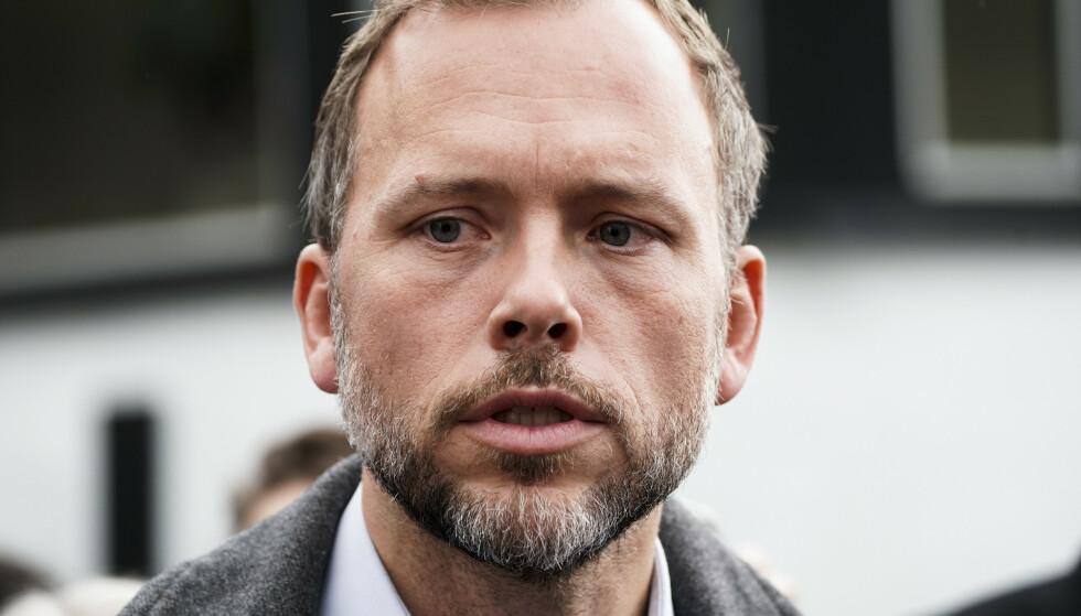 SV-leder Audun Lysbakken lover tøffe tak i Stortinget når SV skal kjempe for gjennomslagene de ikke fikk i Hurdal. Foto: Terje Pedersen / NTB