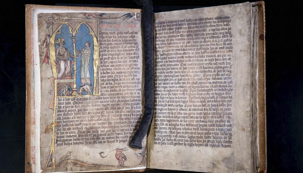 Codex Hardenbergianus er blant manuskriptene som gjøres tilgjengelig for publikum. Foto: Gorm K. Gaare / Nasjonalbiblioteket / NTB