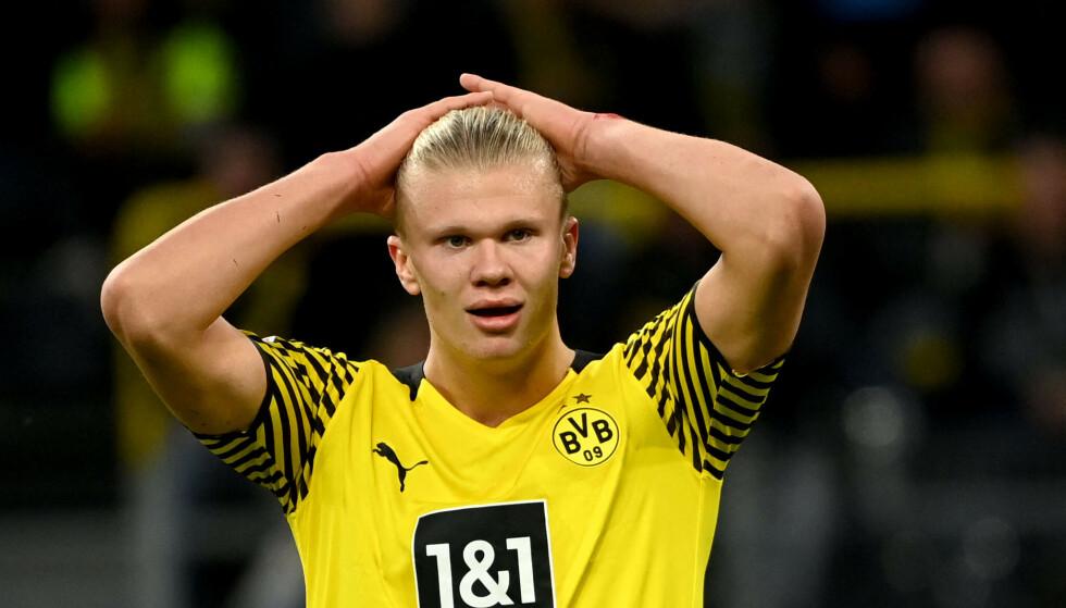Erling Braut Haaland spiller ikke VM-kvalkampene i fotball mot Tyrkia og Montenegro. Foto: Ina Fassbender / AFP