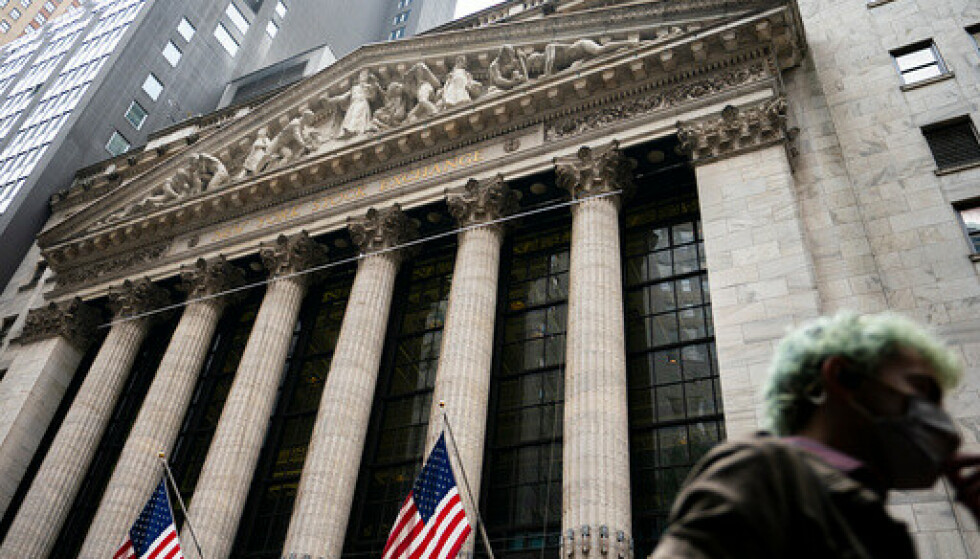 New York-børsen på Manhattan. Foto: John Minchillo / AP / NTB.