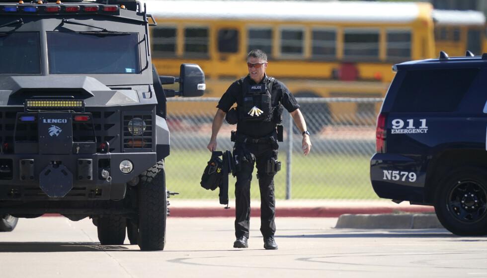 Fire personer ble såret i skoleskytingen på en videregående skole i Texas onsdag. Foto: AP / NTB