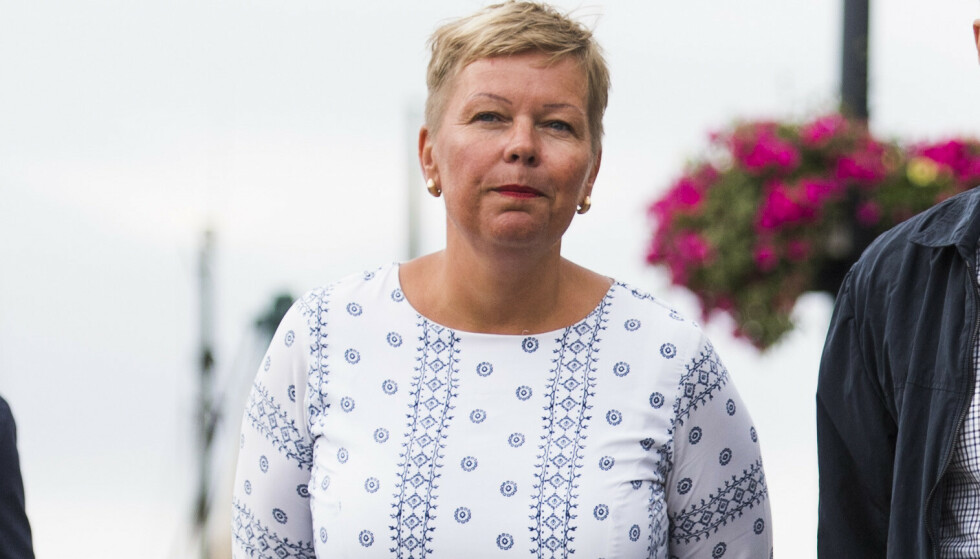 Hege Haukeland Liadal (Ap) i forbindelse med en valgkampturne på Vestlandet.Foto: Jon Olav Nesvold / NTB