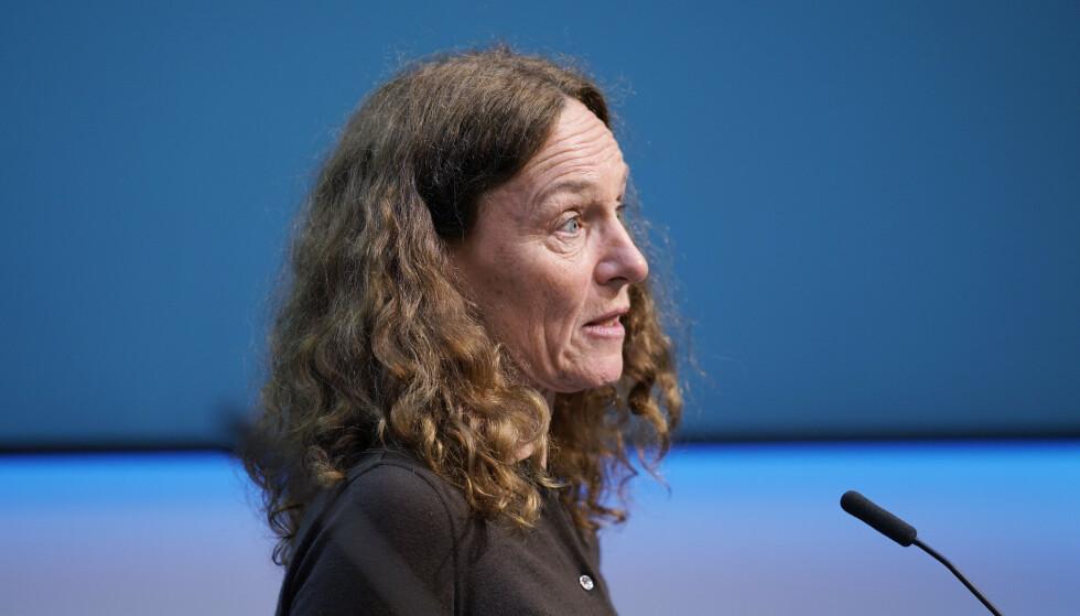 Direktør Camilla Stoltenberg i Folkehelseinstituttet. FHI har kommet med en oppsummering av coronapandemien i Norge. Foto: Ali Zare / NTB