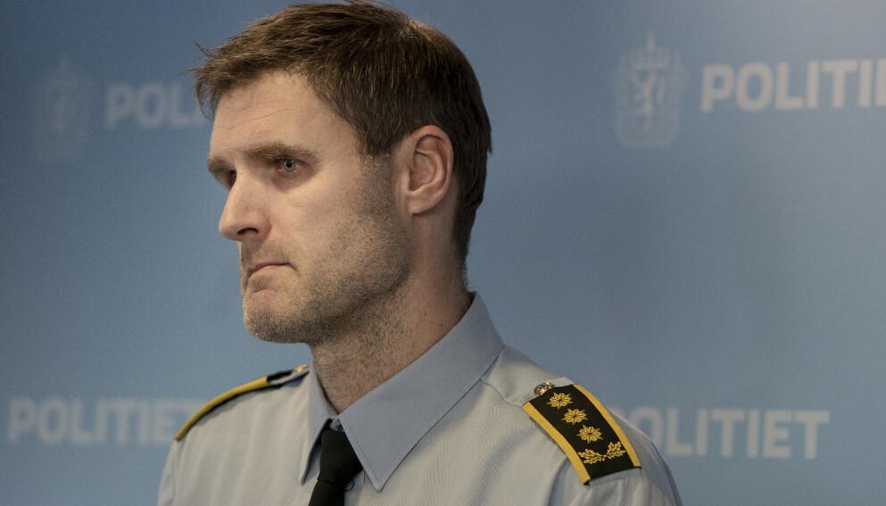 Politiadvokat i Sørvest politidistrikt, Fredrik Martin Soma, forteller at politiet er ferdig med avhørene av mannen som er siktet for drapet på Birgitte Tengs i denne omgang. Foto: Carina Johansen / NTB