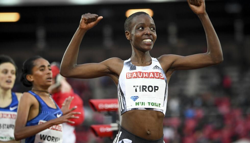 Langdistanseløperen Agnes Tirop ble onsdag funnet død i sitt hjem. Torsdag ble hennes ektemann pågrepet av kenyansk politi, mistenkt for å ha drept henne. Foto: Fredrik Sandberg, TT via AP / NTB