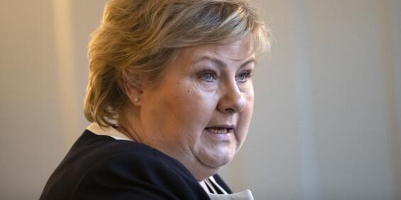 Image: Erna Solberg varsler pressekonferanse mandag