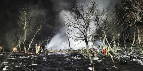Image: Mannen som berget seg ut av den brennende hytta, er far til to av barna som omkom