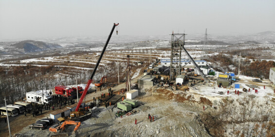 Image: Gruvearbeider reddet etter to uker i Kina
