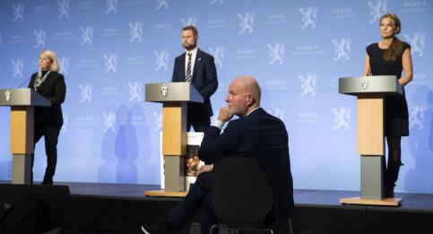 Image: Helsedepartementet varsler pressekonferanse søndag kveld