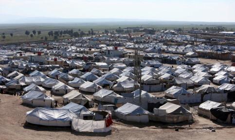 Image: Barn døde i brann i al-Hol-leiren i Syria