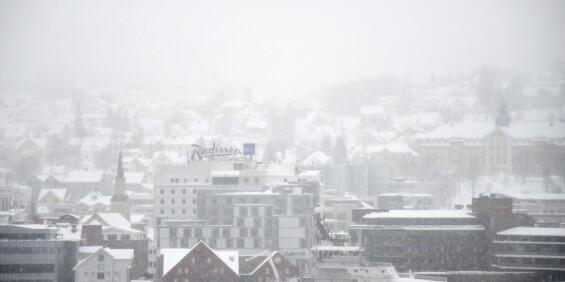 Image: Snø over nesten hele landet i helga