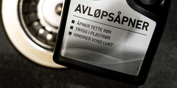 Image: Forveksler avløpsåpner med drikkeflaske
