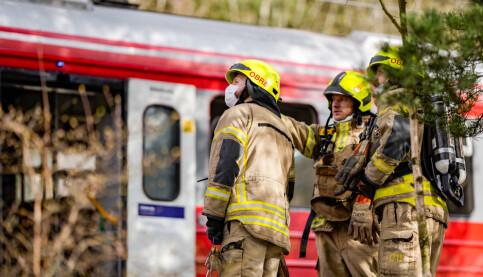 Image: Kjøreledning falt ned på tog helt sør i Oslo – passasjerer ble evakuert