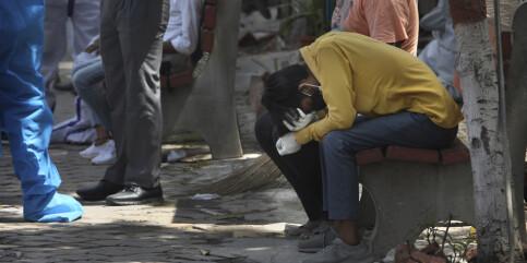Image: Andre smittebølge: Krematoriene jobber for fullt i India