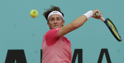 Image: Tennisbragd av Casper Ruud – slo verdensfemmer Tsitsipas i Madrid Masters