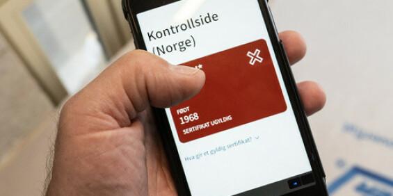 Image: Coronasertifikatløsning for ikke-digitale brukere på trappene