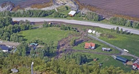 Image: Stort jordras i Kåfjord - kriseledelse satt inn