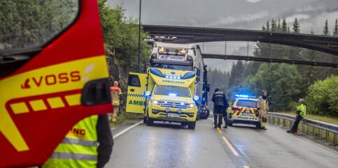 Image: Fører omkom i trafikkulykke på Voss