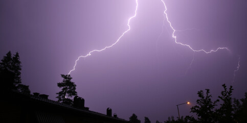 Image: Styrtregn på Østlandet og tordenvær i nord