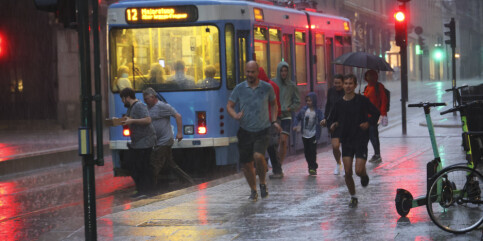 Image: Over hundre lynnedslag i Oslo