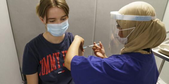 Image: Førstedose-vaksineringen nærmer seg slutten