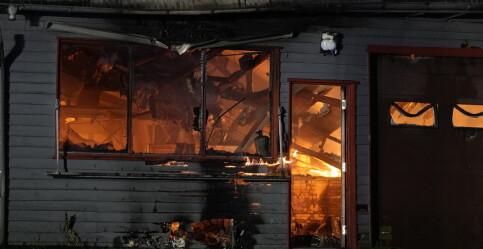 Image: Totalskadd i brann