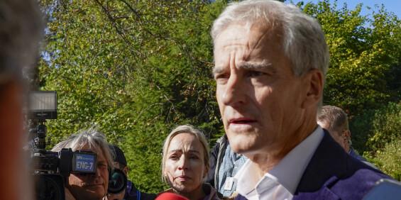 Image: Støre: Har snakket med Lysbakken og Vedum