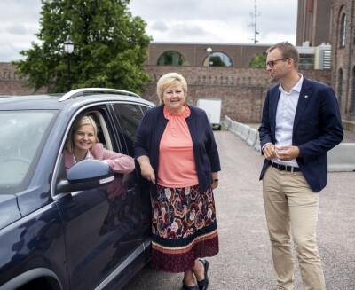 Image: Melby erstatter Erna Solberg når Ropstads avskjed legges fram for Kongen