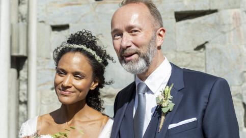 Image: Trond Giske og Haddy Njie venter barn igjen