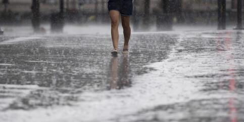 Image: Kraftig regnvær på Østlandet – Lifjell fikk 125,9 millimeter på 24 timer