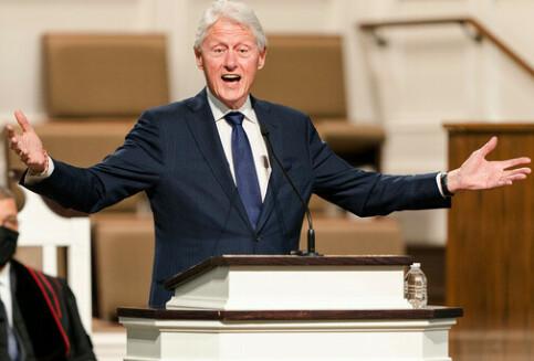 Image: Bill Clinton på sykehus