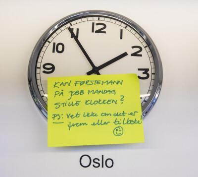 Image: Da skal klokken stilles